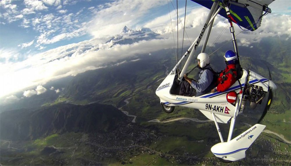 Ultralight Flight in Nepal | Pokhara Ultralight Flight